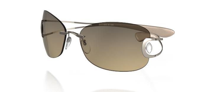 Silhouette Sunglasses - Crystal